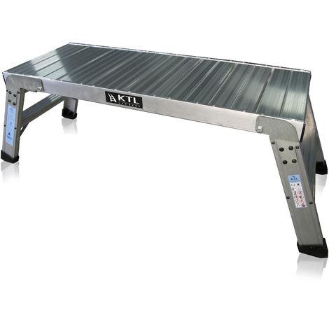 Plataforma de trabajo profesional de Aluminio plegable 2 peldaños 45x120 SERIE KARLA