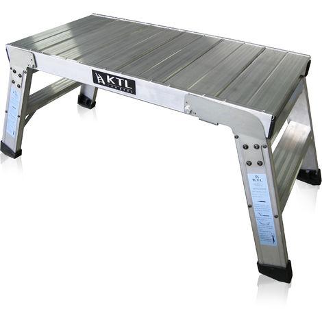 Plataforma de trabajo profesional de Aluminio plegable 2 peldaños 45x90 SERIE KARLA