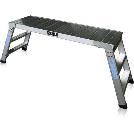 Plataforma de trabajo profesional de Aluminio plegable 3 peldaños 45x150 SERIE KARLA