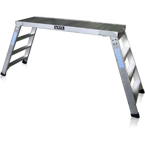 Plataforma de trabajo profesional de Aluminio plegable 4 peldaños 45x150 SERIE KARLA