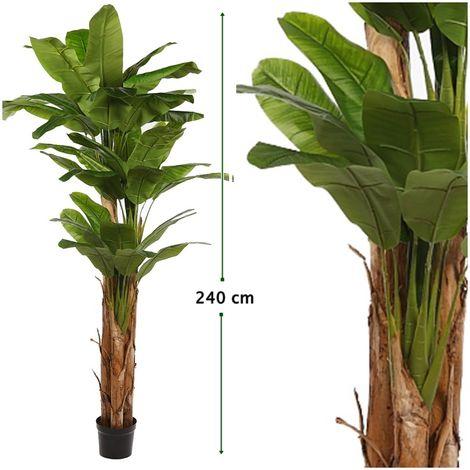 Platanera Bananero Artificial en Maceta. Altura 240 Cm