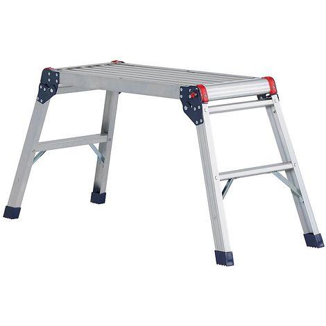 Plate-forme de travail en aluminium - 2 marches - repliable