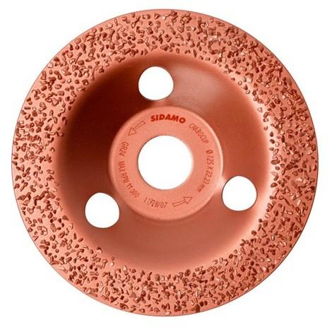 Plateau à poncer carbure - D.125 x 22,23 mm Gr 24 Plat - Carbocup - multi-matériaux - 10805012 - Sidamo