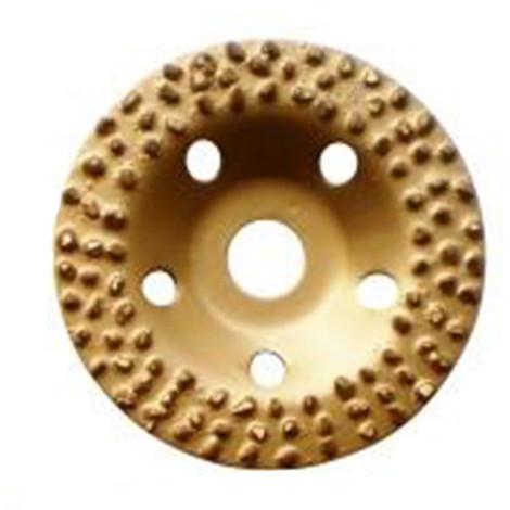 """main image of """"Plateau à poncer carbure de tungstène GOLD GRINDER D.125 mm x Al. 22,23 mm x Gr. 8 - Colle, vernis, PVC - Diamwood"""""""