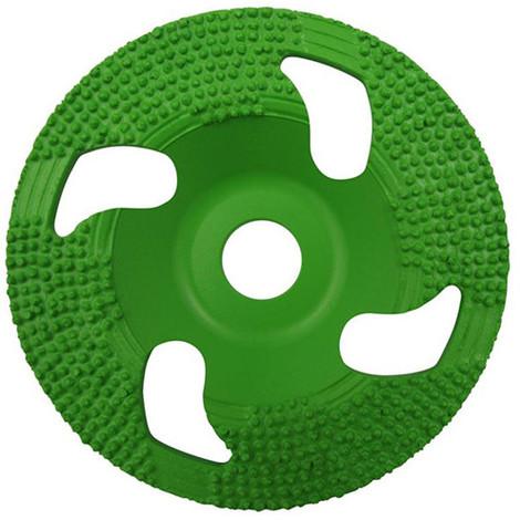 Plateau à poncer vacuum brazed BIG GREEN GRINDER D.125 x Al. 22,23 mm - Colle, vernis, epoxy - Diamwood Platinum