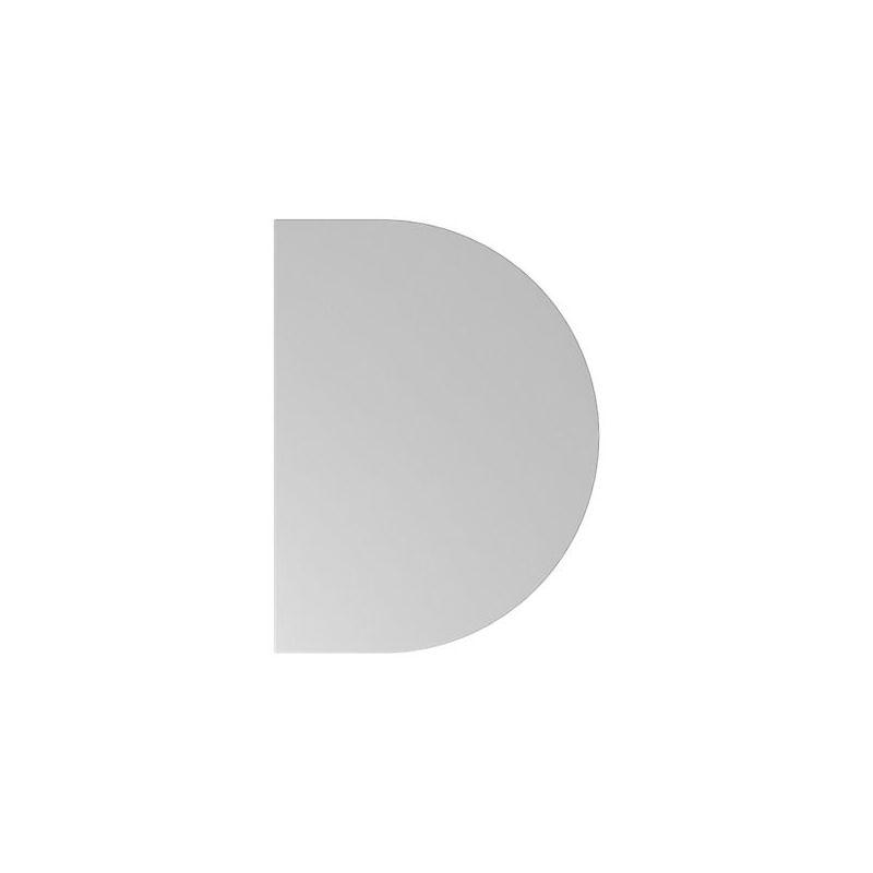 Plateau additionnel Hammerbacher   Demi-cercle   Série XB   LxP 60x80 cm - Coloris piétement: blanc Coloris: Gris