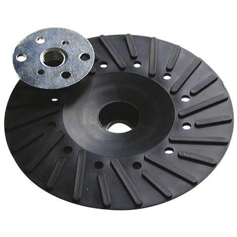 Plateau caoutchouc ventilé écrou M14 Pour disque fibre - D. 125 mm - 127.06 - Leman - -