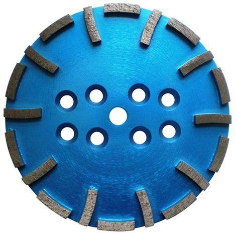 Plateau de surfaçage diamanté 20 segments D. 250 x Ht. 10 mm fixation universelle - béton très dur ou chape - Diamwood