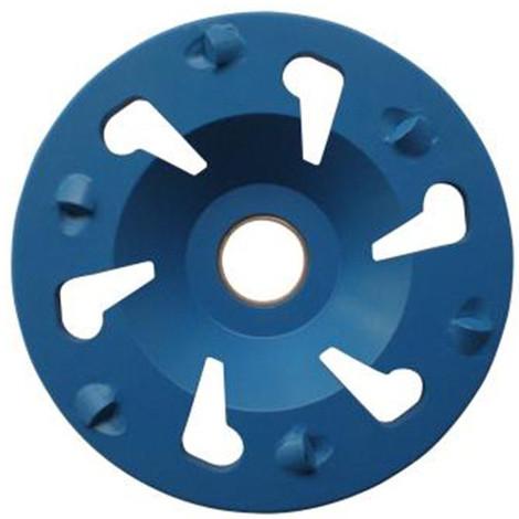 Plateau de surfaçage PCD BIG BLUE GRINDER D.130 x Al. 25 mm x 6 PKD 3,4 mm Spécial FESTOOL - Epoxy, peinture - Diamwood Platinum - -
