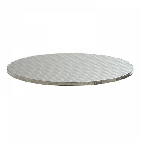 Plateau de table de terrasse rond en aluminium Ø60 cm