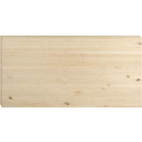Plateau en pin pour table à manger 160x80 cm, épaisseur de 3,5 cm