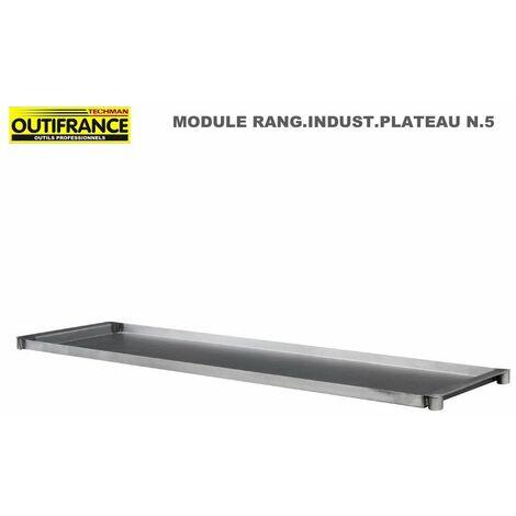 Plateau n.51.20x0.40m verni pour module rangement industriel