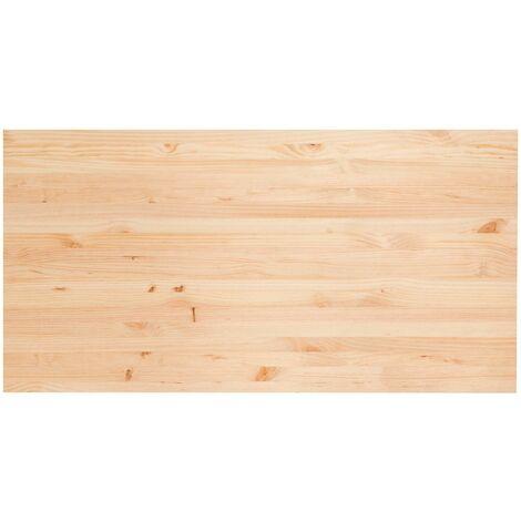 Plateau en pin massif pour bureau (120x60cm), 1,8 cm d'épaisseur