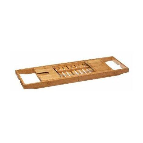 Plateau pour baignoire extensible - 70-105 x 22 x 4 cm - Bambou