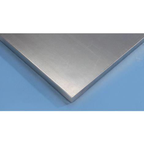 Plateau pour établi - plateau à revêtement en tôle d'acier - largeur 1500 mm, épaisseur 50 mm