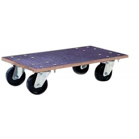 "main image of ""Plateau roulant antidérapant Glissnot, roues nylon, charge utile 350 kg"""