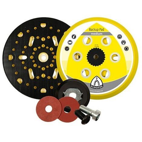 Plateau/support pour disques auto-agrippant HST 555 D. 150 mm x M 8 dureté doux - 320488 - Klingspor