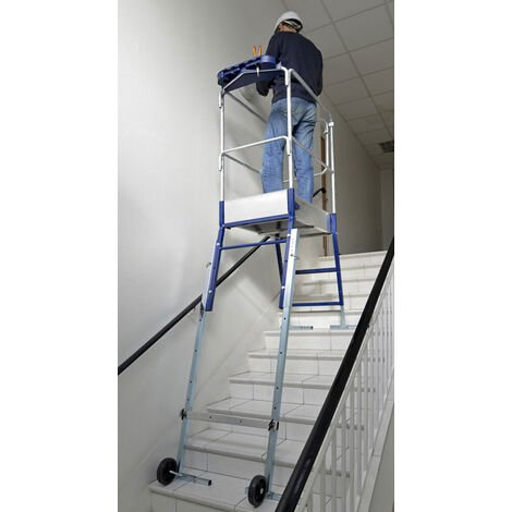 Plateforme pour escalier: 3m haut. travail max (plusieurs tailles disponibles)
