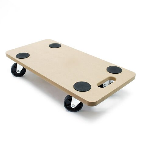 Platform Dolly Transport Roller Furniture Mover with Swivel Castors MDF 580x290mm up to 250kg