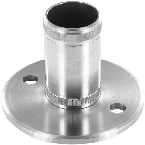 Platine à manchonner Diam 100mm, pour tube Diam 42,4 x 2mm, Inox brossé AISI 304