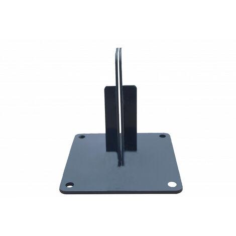 Platine acier pour poteau multifonctions clôture - Coloris - Gris anthracite RAL 7015, Epaisseur - 5mm, Largeur - 15 cm, Longueur - 15 cm