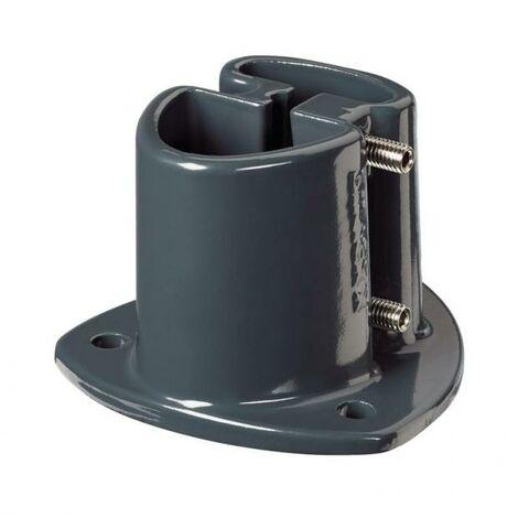Platine aluminium pour poteau AXOR gris
