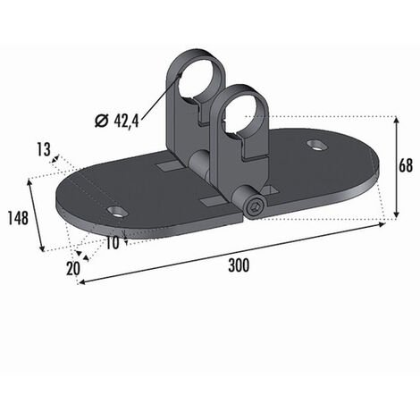 Platine d'Angle pour Tube Ø42.4