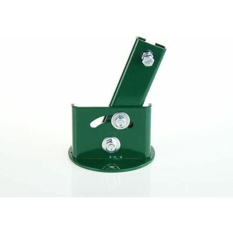 Platine de fixation inclinable T 35 Vortek, pour fixer les poteaux à T sur muret en pente
