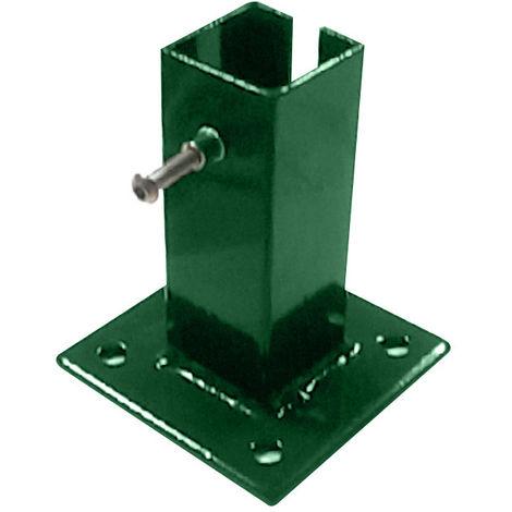 Platine de fixation pour poteau de clôture Vert 6005