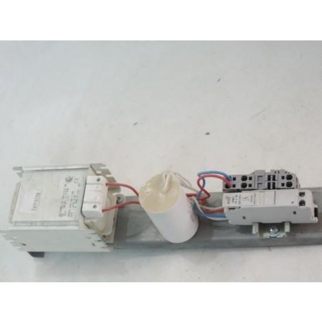 Platine de mat simple 350X85X95mm pour lampe mercure 250W avec ballast ferro amorceur et condensateur BF R.I.B 26910250