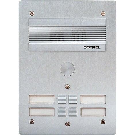 Platine de rue Série 300 audio façade Alu 4mm 4 appels (308304)