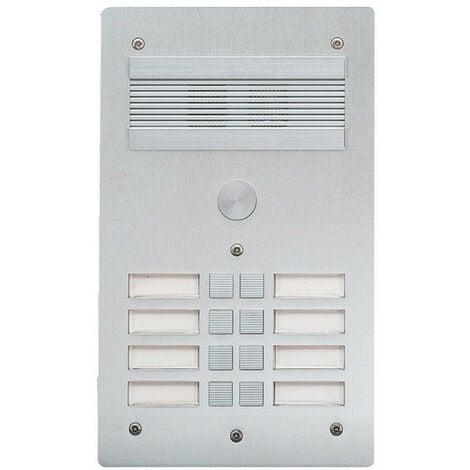 Platine de rue Série 300 audio façade Alu 4mm 8 appels (308308)