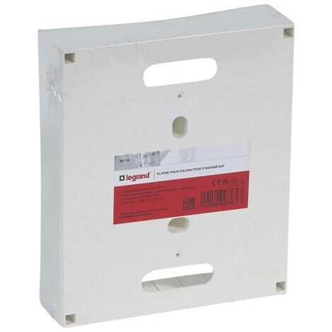 Platine pour disjoncteur d'abonné ERDF 225 x 190 x 53mm (092736)