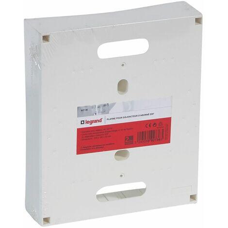 Platine pour disjoncteur d'abonné ERDF - 225 x 190 x 53mm