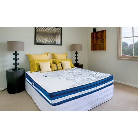 """main image of """"PLATINUM Mattress 135x190 cm H33 Memory Gel Material Pocket Spring 7cm Removable Topper 4'6 Double"""""""