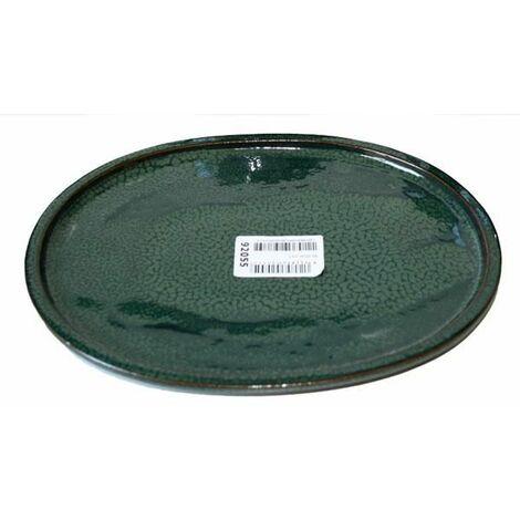 Plato cerámico Java Verde Ovalado 25 cm
