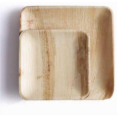 Plato cuadrado de hoja de palma Packawin 25 unidades 23 cm