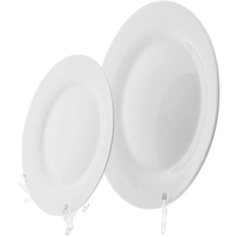 Plato de cerámica para sublimación con soportes