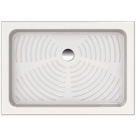 Plato de ducha 100x70 cm en cerámica blanca | Blanco