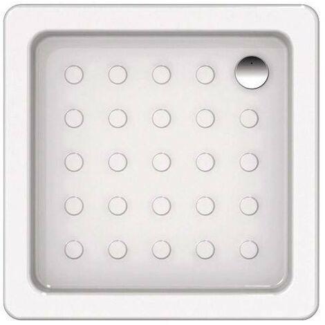 Plato de ducha 70x70 cm en cerámica blanca | Blanco