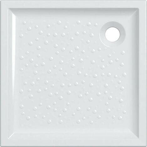 Plato de ducha 70x70 cm en cerámica Gaia | Blanco