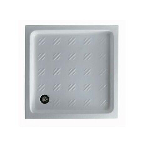 Plato de ducha 75x75xH10 cm en cerámica Galassia Albatro | Blanco