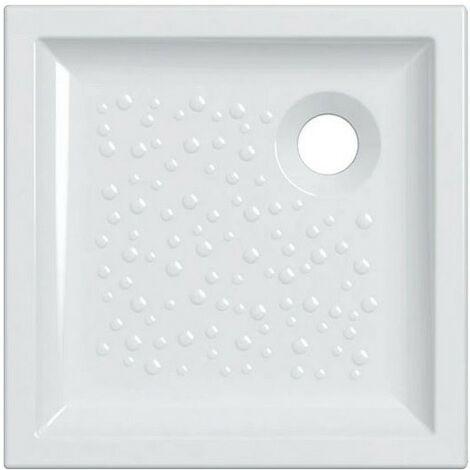 Plato de ducha 80x80 cm en cerámica Gaia | Blanco