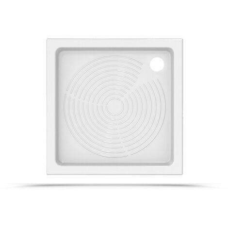 Plato de ducha 90x90 cm en cerámica blanco | Blanco