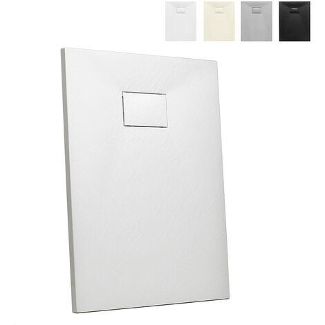 Plato de ducha a ras de suelo rectangular de resina 100x70 Stone
