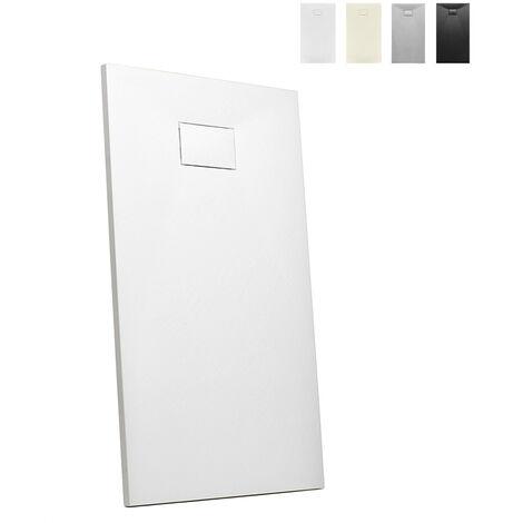 Plato de ducha a ras de suelo rectangular de resina 110x70 baño moderno Stone