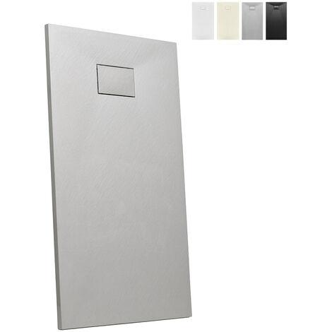 Plato de ducha a ras de suelo rectangular de resina 150x70 Stone
