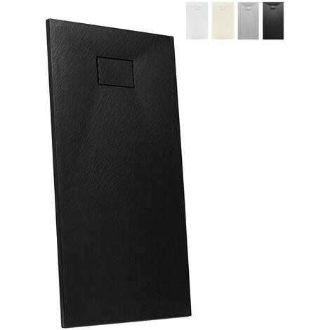 Plato de ducha a ras de suelo rectangular de resina 160x70 diseño moderno Stone