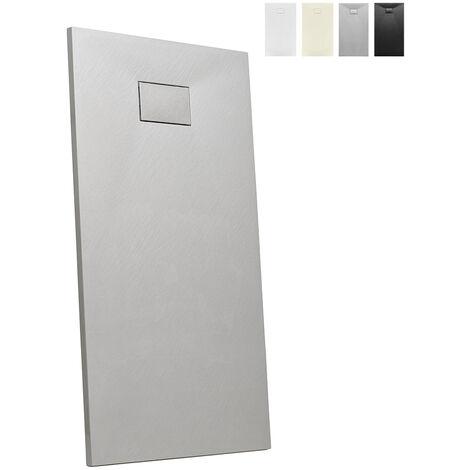Plato de ducha a ras de suelo rectangular de resina 160x80 Stone