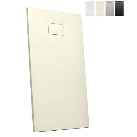 Plato de ducha a ras de suelo rectangular de resina 160x90 STone